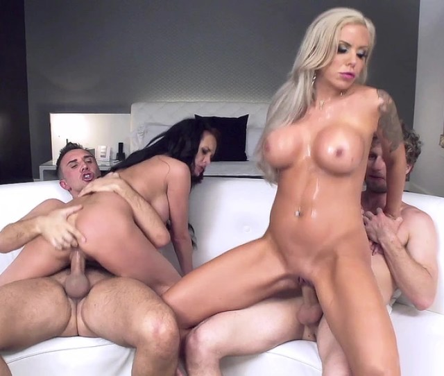 Alektra Blue And Nina Elle Ride Two Cocks In A Hot Foursome 3 Movs Mobile