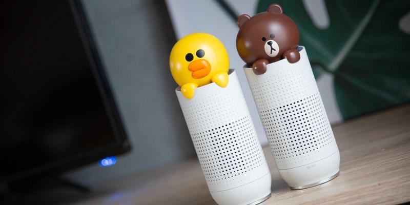 【網購開箱】可愛的Line Friends熊大莎莉隨身空氣清淨器!! 好適合放車上或是辦公桌上~