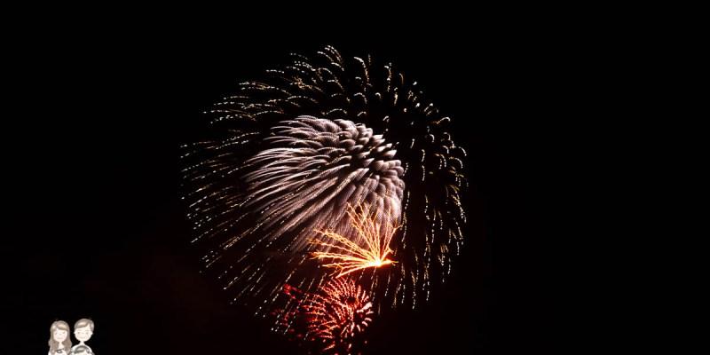 【2020鹿耳門聖母廟煙火】第一次在自家屋頂賞煙火,糊糊的照片一年一度國際高空元宵煙火!!