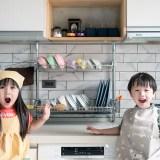 【廚房收納】頂天立地的兩層架子!好看的廚房碗盤收納架~韓國原裝進口 INEX雙層不銹鋼碗盤收納架