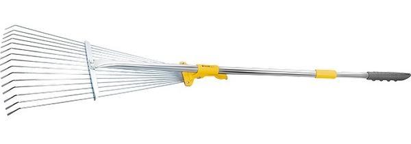 Телескопические веерные грабли с выдвижной ручкой - настоящая находка для дачника