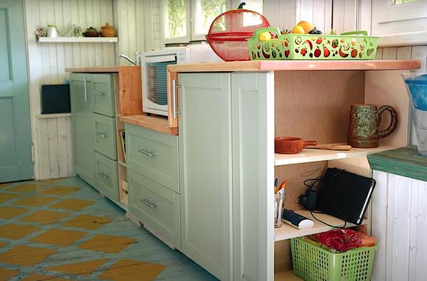 المطبخ الريفي من الخشب الرقائقي تفعل ذلك بنفسك