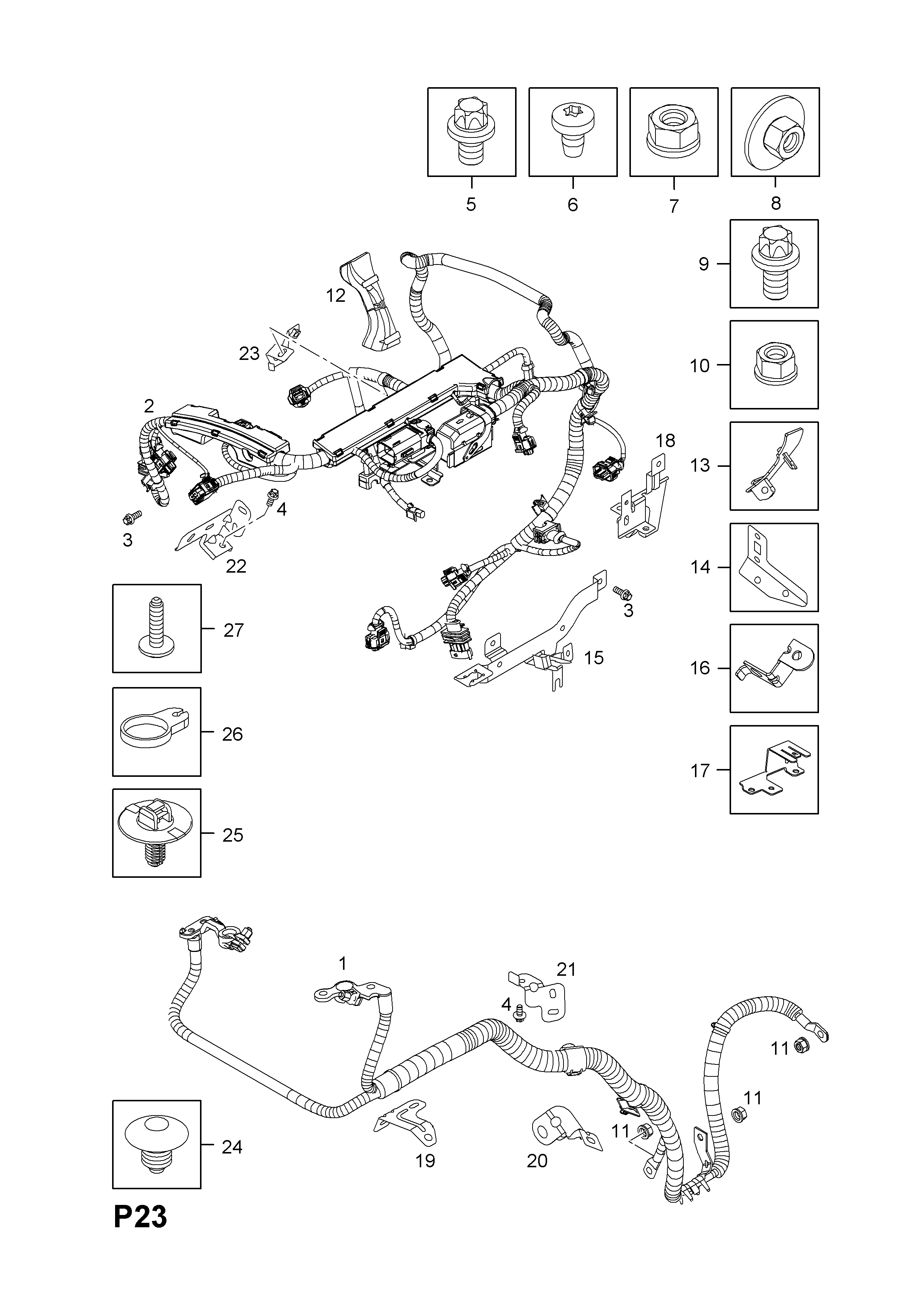 Engine And Fuel Injection Wiring Harness Fittings Z16lel