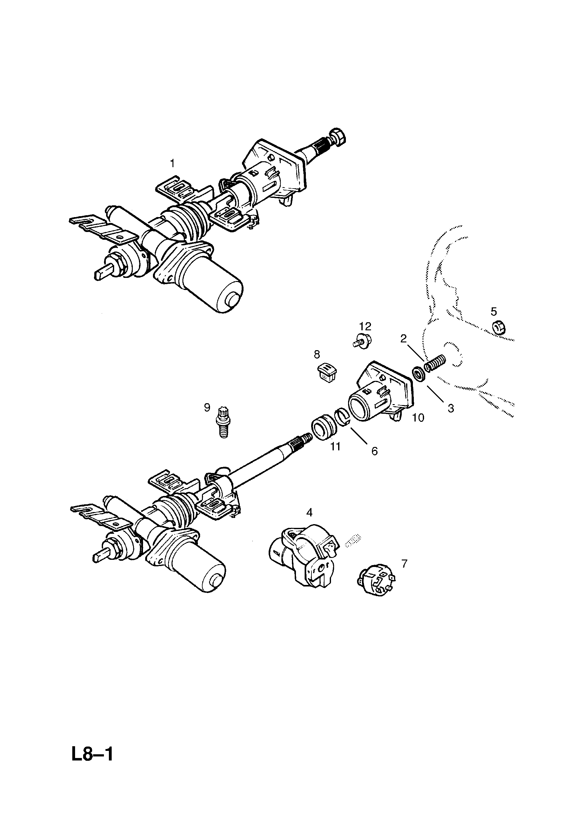 Steering Column Contd For Electronic Power Steering