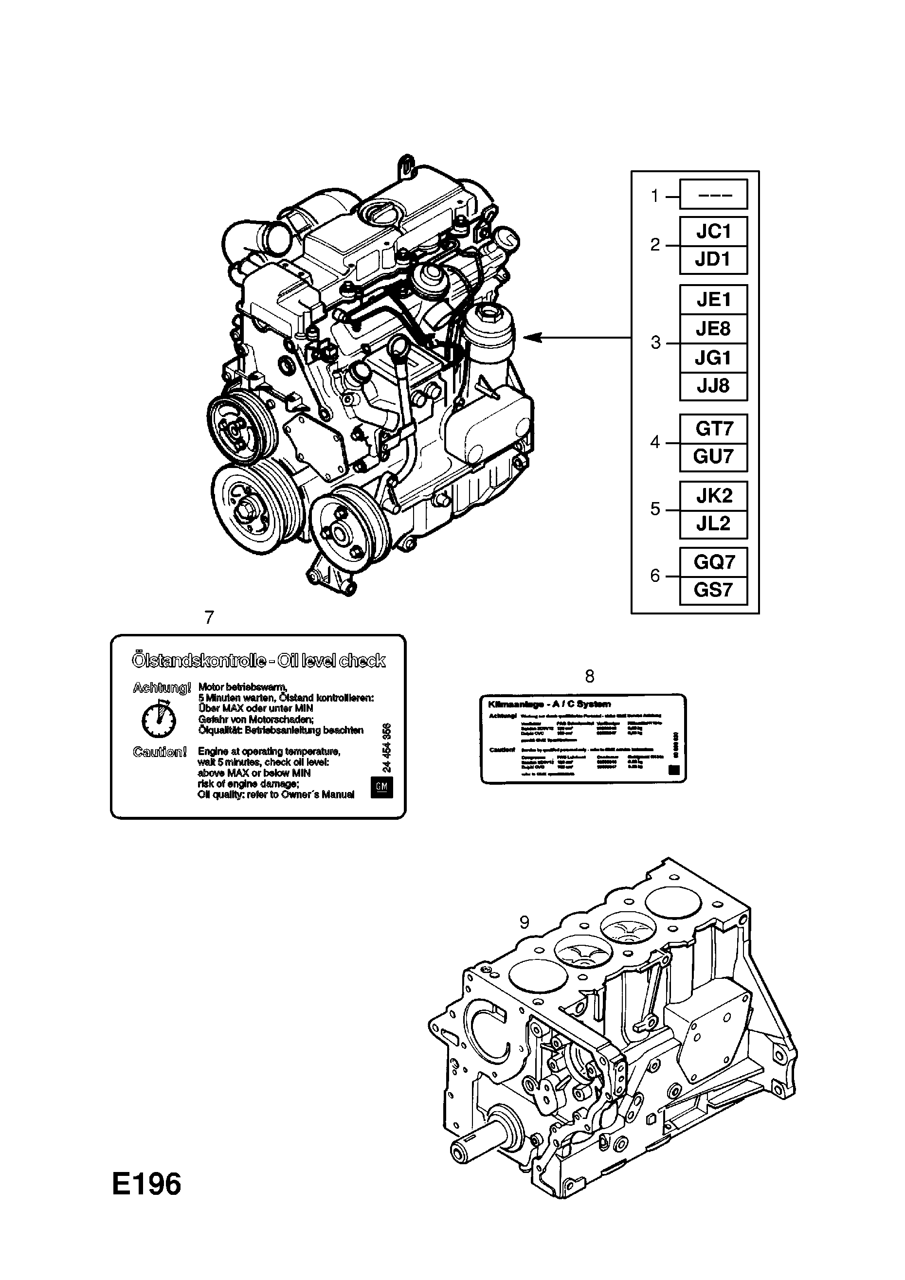 Engine Assembly Used With Manual Transmission Opel Astra