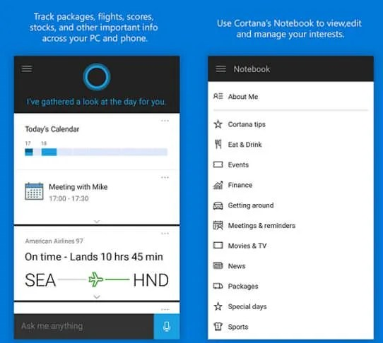 Cortana for Android iOS