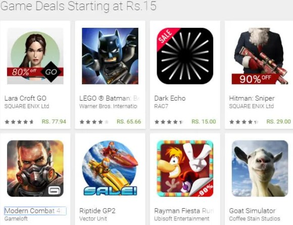 Year-end GOogle Play Games deals