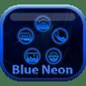 Smart Launcher Blue Neon Icon