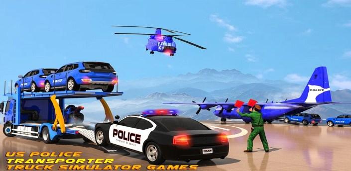 US Police Transporter:Truck Simulator Games apk