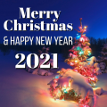 Merry Christmas & Happy New Year Cards 2021 Icon