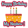 Birthday Wishes for Nephew, Greeting Card Quotes Icon