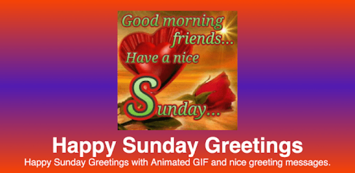 Happy Sunday: Greetings, GIF, SMS Messages apk