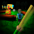 Play for Angry Teacher. Scary Horror in Camping Icon