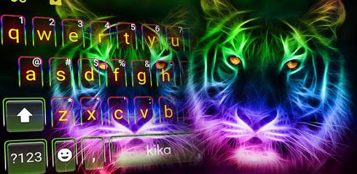 Neon Tiger Keyboard Theme apk