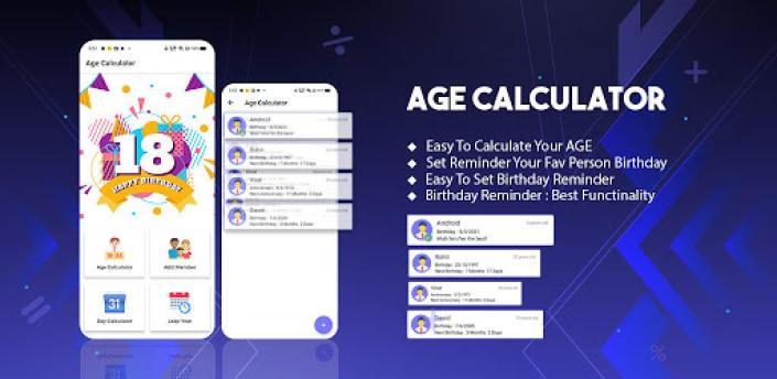 Age Calculator - Calculate Birthday Time & Date apk
