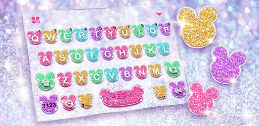 Girly Glitter Minny Keyboard Theme apk