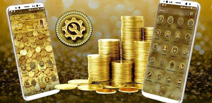 Gold Coin Launcher Theme apk