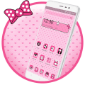 Beautiful Pink Polka Theme Icon