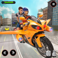 Futuristic Flying Bike Taxi Simulator Driver Icon