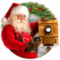 Santa In Photo – Christmas Stickers For Pictures Icon