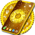 Gold Clock Wallpaper 💛 Glitter Live Wallpapers Icon