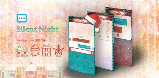 Next SMS silent night skin (Christmas & new year) apk