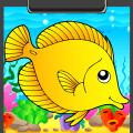 Fish Coloring Book Icon
