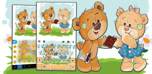 Teddy Cute Bears Keyboard Theme apk