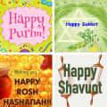 Jewish Festival Greetings Icon