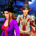 Halloween Witch and Wizard adventure Icon