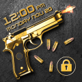 Gun shooting lock screen Icon