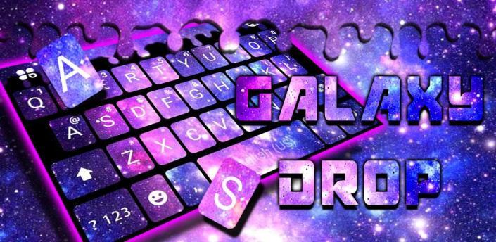 Galaxy Space Drop Keyboard Background apk