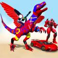 Flying Dinasaur Robot Car Transform: Dino Games Icon