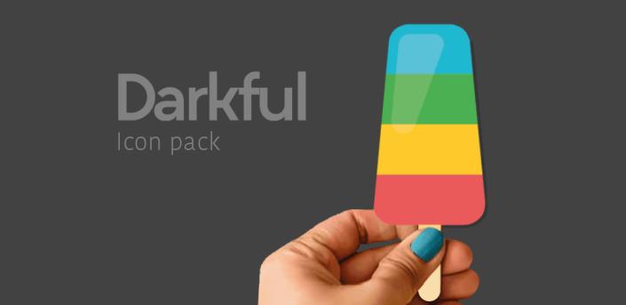 Darkful Icon Pack - Theme for Apex/Nova Launcher apk