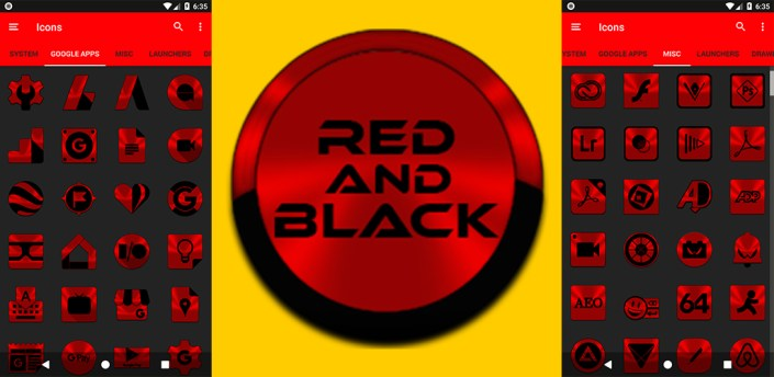 Red and Black Icon Pack v1.5 👻Free👻 apk