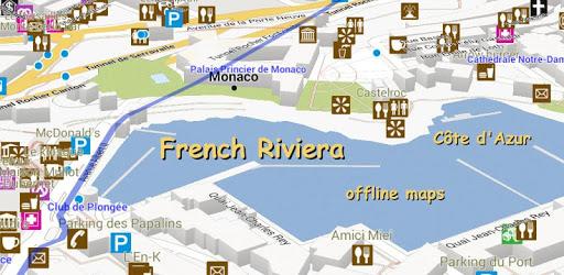 French Riviera Offline Map apk