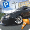 Russian Cars: Parking Icon