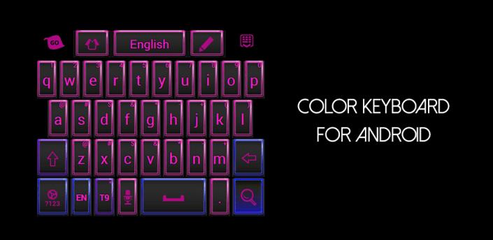 Pink and Black Keyboard Theme apk