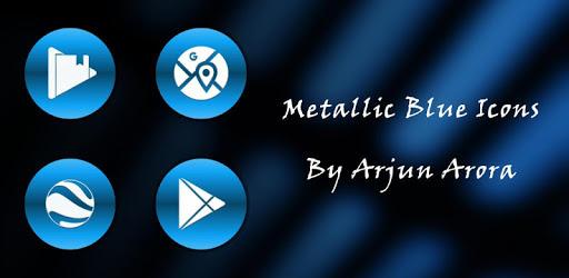Metallic Blue Icons By Arjun Arora apk