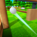 Putting Golf King Icon