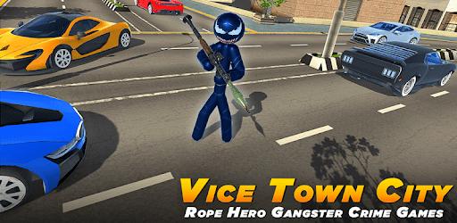 Spider Stickman Rope Hero - Black Hero Vice Town apk