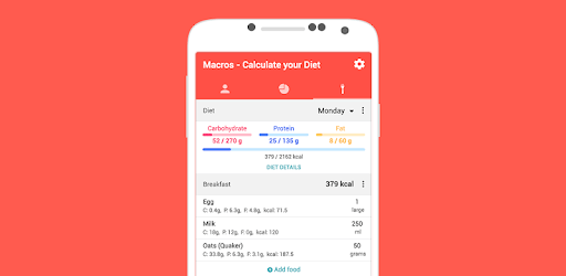 Macros - Calorie Counter & Meal Planner apk