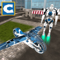 Flying Robot Bike Simulator Icon