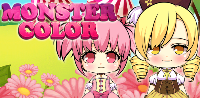 Manga Madoka Magica Matches Balls Monster Color Pop Cartoon Game apk