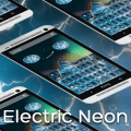 Neon Electric Keyboard Icon