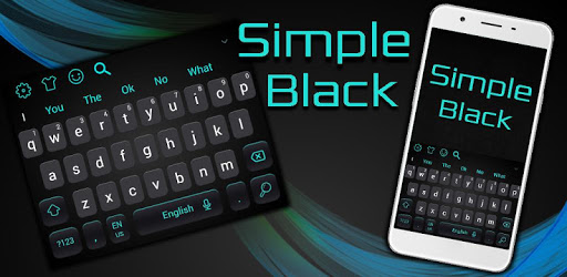 Simple Cool Black Keyboard Theme apk
