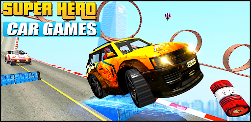 Superhero car games 2021- Real Stunt Car Racing apk