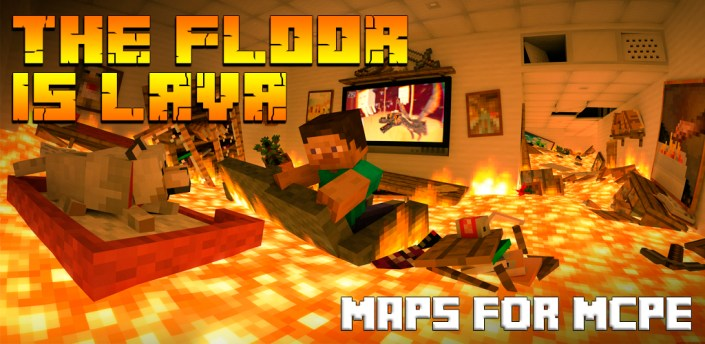 The Floor is Lava Maps for MCPE apk