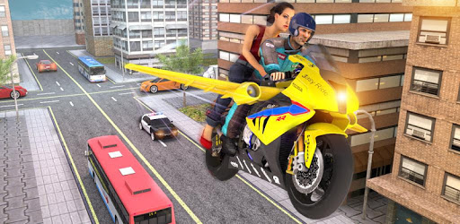 Futuristic Flying Bike Taxi Simulator Driver apk