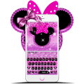 Cute Minny Pink Bowknot Keyboard Theme Icon